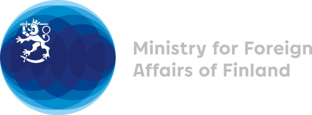 Ulkoministeriön logo.
